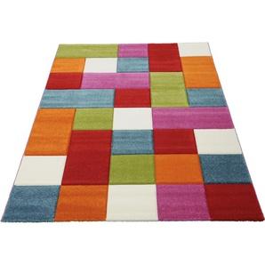 merinos Teppich GENIL, rechteckig, 13 mm Höhe, handgearbeiteter Konturenschnitt, Wohnzimmer B/L: 120 cm x 170 cm, 1 St. bunt Kinder Bunte Kinderteppiche Teppiche