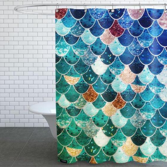 Mermaid Tiffany-Duschvorhang