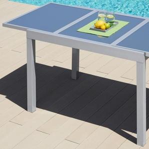 MERXX Gartentisch Amalfi, 90x140-200cm, ausziehbar B/H/T: 90 cm x 75 180 silberfarben Gartentische Gartenmöbel Gartendeko