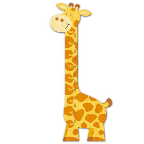 Messlatte Kind Giraffe für Kinder aus Holz Kinderzimmer