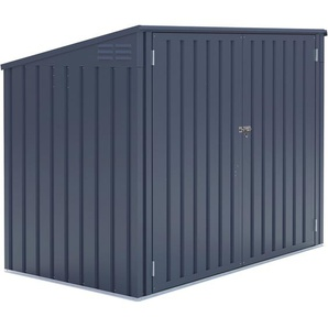 Metall Mülltonnenbox Grau für 2 Mülltonnen 240 Liter 131 cm x 172 cm x 100 cm