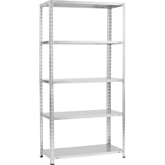 Metall-Schraubregal/Kellerregal Verzinkt 180 x 90 x 40 cm