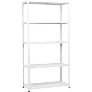 Metall-Steckregal Weiß 195 x 100 x 40 cm