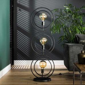 Metall Stehlampe im Industry und Loft Stil 124 cm hoch