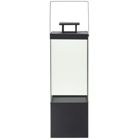 Metalllaterne | schwarz | Metall, Glas |