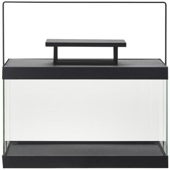 Metalllaterne - schwarz - Glas , Metall | Möbel Kraft