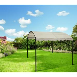 Metallpavillon Pauline beige-schwarz 300 x 257 x 300 cm