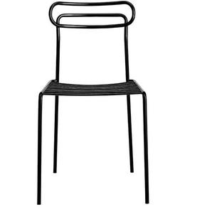 Metallstuhl in Dunkel Grau modern (2er Set)