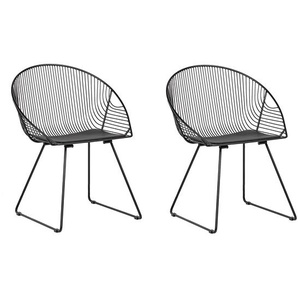 Metallstuhl schwarz 2er Set AURORA