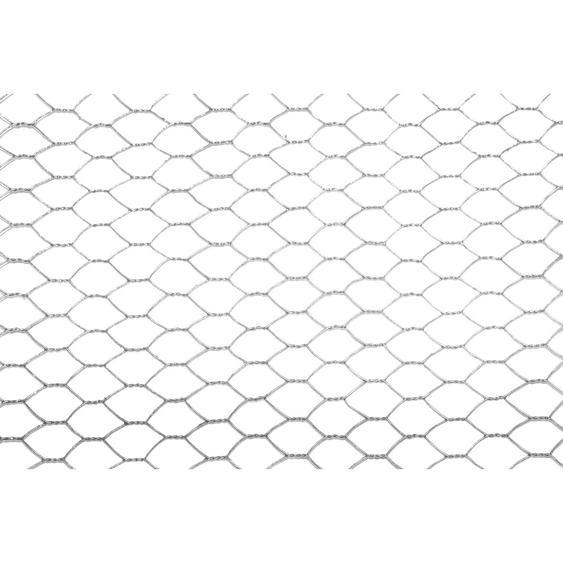 Metallzaun 6-Eck-Geflecht Verzinkt 13 x 13 mm Höhe 50 cm Länge 10 m