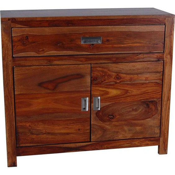MiaMöbel Bad Kommode 2 Türen / 1 Schublade Massivholz Sheesham Modern Indien Indisch