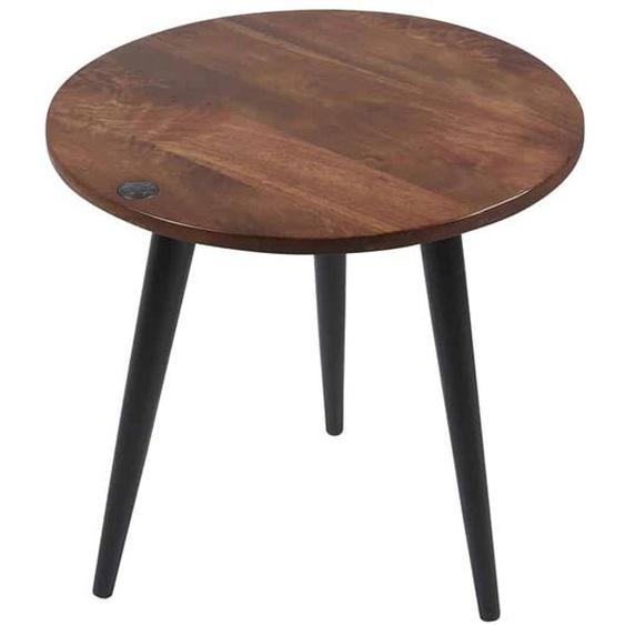 MiaMöbel Beistelltisch Tom Tailor, rund 60 cm Massivholz, Metall Mango Modern Indien Indisch
