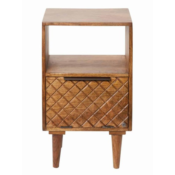 MiaMöbel Nachttisch Tom Tailor Massivholz, Metall Mango Modern Indien Indisch