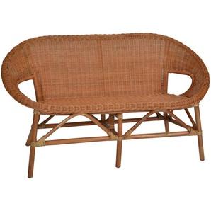 MiaMöbel Rattansofa Kerang 2-Sitzer Modern Rattan