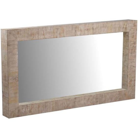MiaMöbel Spiegel Suri rechteckig Glas, Massivholz Mango Landhaus Indien Indisch