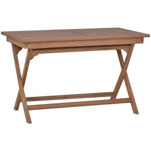 MiaMöbel Teak Esstisch/Klapptisch 120x70cm Modern Massivholz Teak