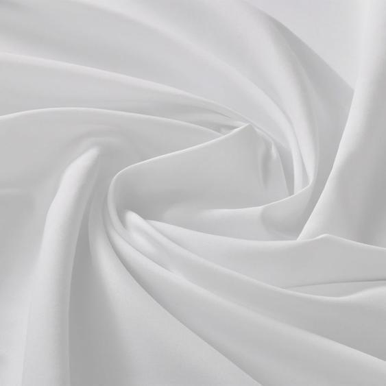 Micro-Satin-Stoff 1,45 x 20 m Weiß