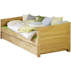 Mid.you Ausziehbett , Natur , Holz , Buche , massiv , 90x200 cm , nur für Rollroste geeignet , Kinder & Jugendmöbel, Kindermöbel, Kinderbetten, Funktionsbetten