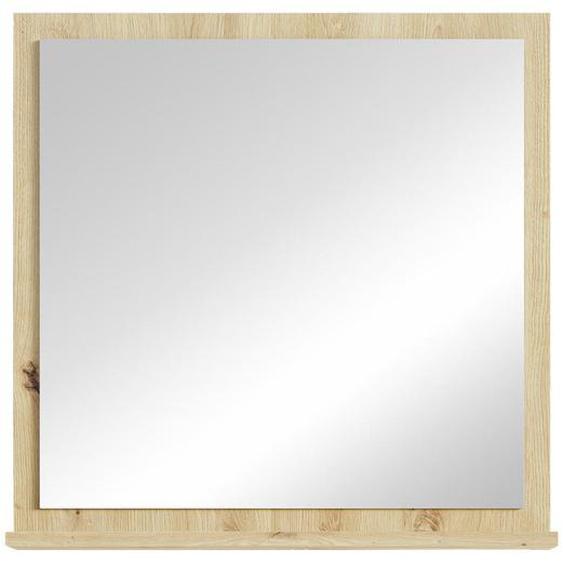 Mid.you Badezimmerspiegel Braun , Glas , 60x60x14 cm