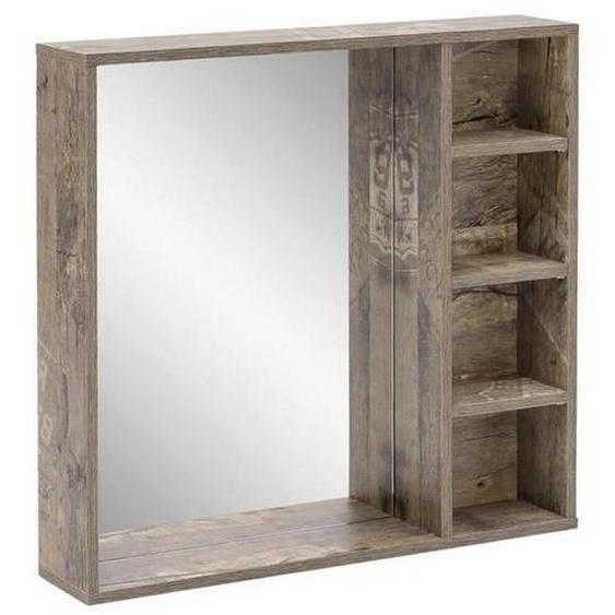 Mid.you Badezimmerspiegel , Braun , Glas , 73.3x73.2x15.8 cm