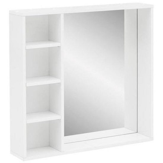 Mid.you Badezimmerspiegel , Weiß , Glas , 73.3x73.2x15.8 cm