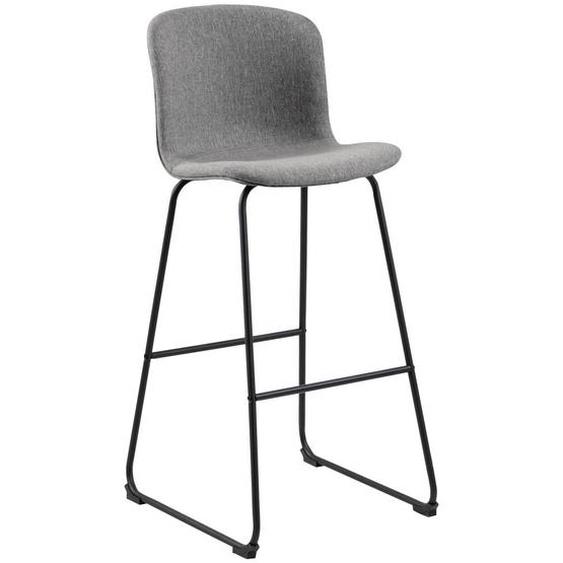 Mid.you Barhocker Jersey Grau , Metall , 50x106x55 cm