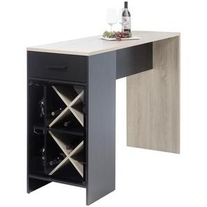 Carryhome: Tisch, Eiche, Schwarz, B/H/T 150 104 50