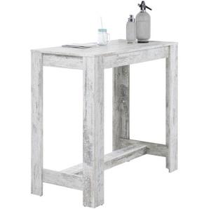 Carryhome: Tisch, Weiß, B/H/T 120 108 58