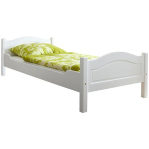 Mid.you Bett , Weiß , Holz , Kiefer , massiv , 90x200 cm , in verschiedenen Holzdekoren erhältlich, Größen nur für Rollroste geeignet , Kinder & Jugendmöbel, Jugendmöbel, Jugendbetten