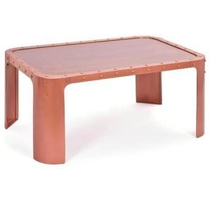 Mid.you Couchtisch , Kupfer , Metall , rund , 70x45 cm , Wohnzimmer, Wohnzimmertische, Couchtische