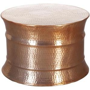 Mid.you Couchtisch , Kupfer , Metall , rund , 62x41 cm , Wohnzimmer, Wohnzimmertische, Couchtische
