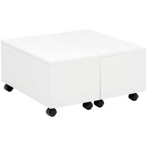Mid.you Couchtisch , Weiß , Kunststoff , quadratisch , 60x30 cm , Stauraum , Wohnzimmer, Wohnzimmertische, Couchtische