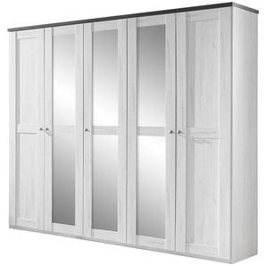 Carryhome: Drehtürenschrank, Holzwerkstoff, Braun, Weiß, B/H/T 225 210 58