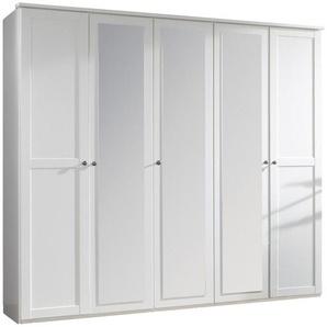Carryhome: Kleiderschrank, Holzwerkstoff, Weiß, B/H/T 225 210 58