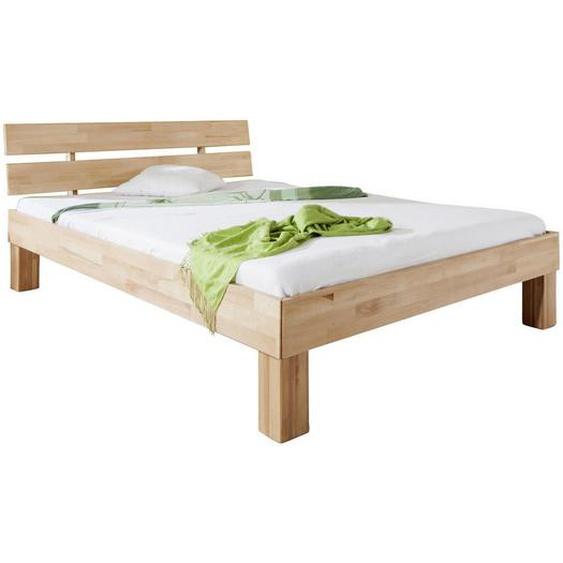 Mid.you Futonbett Buche massiv , Natur , Holz , 180x200 cm , Schlafzimmer, Betten, Futonbetten