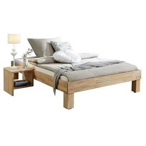 Mid.you Futonbett , Natur , Holz , Buche , massiv , 90x200 cm , Schlafzimmer, Betten, Futonbetten
