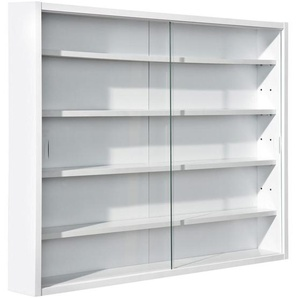 Carryhome: Vitrine, Holzwerkstoff, Weiß, B/H/T 80 60 9,5
