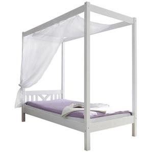 Mid.you Himmelbett , Weiß , Holz , Kiefer , massiv , 90x200 cm , nur für Rollroste geeignet , Schlafzimmer, Betten, Einzelbetten