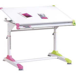 Carryhome: Schreibtisch, Grün, Weiß, Pink, B/H/T 100 69-84 66