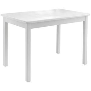 Mid.you Kindertisch , Weiß , Holz , Kiefer , massiv , rechteckig , eckig , 50x51 cm , Kindersitzgruppen