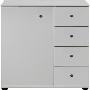 Carryhome: Kommode, Holzwerkstoff, Weiß, B/H/T 81 83 41