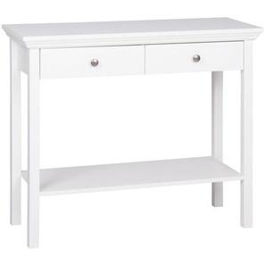 Mid.you Konsole , Weiß , 2 Schubladen , 35x75 cm , Wohnzimmer, Wohnzimmertische, Konsolentische