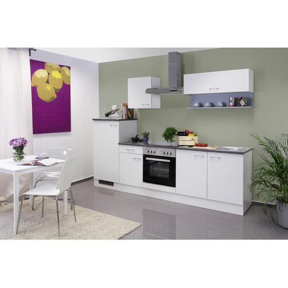 Mid.you Küchenblock E-Geräte, Spüle , Weiß , 1 Schubladen , 270 cm