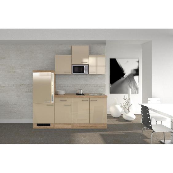 Mid.you Küchenblock E-Geräte, Spüle , Weiß , 210.5 cm
