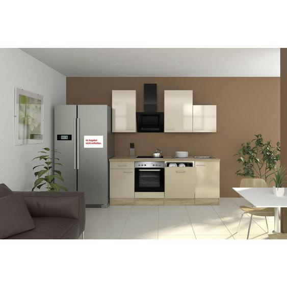 Mid.you Küchenblock E-Geräte, Spüle , Weiß , 220 cm