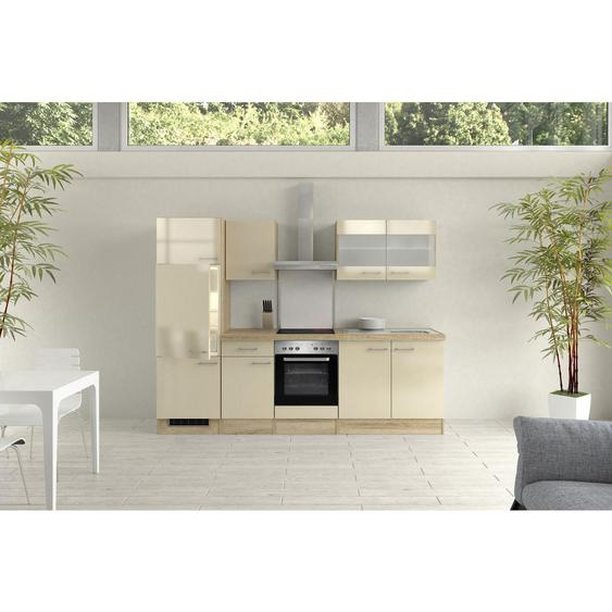 Mid.you Küchenblock E-Geräte, Spüle , Weiß , 270 cm