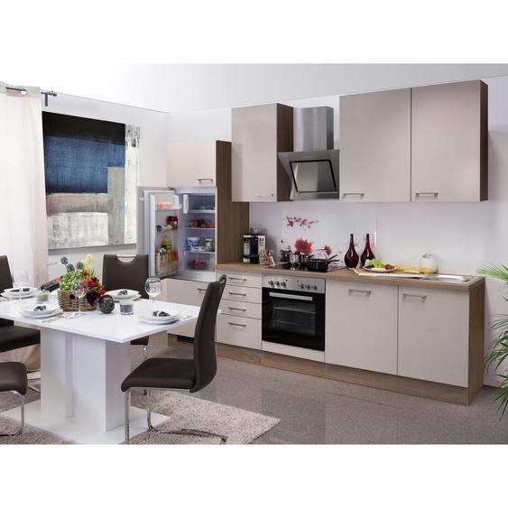 Mid.you Küchenblock E-Geräte, Spüle , Weiß , 280 cm