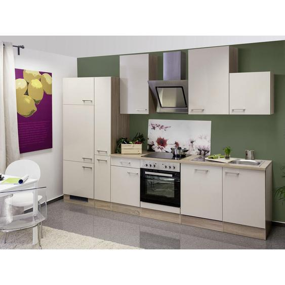 Mid.you Küchenblock E-Geräte, Spüle , Weiß , 310 cm
