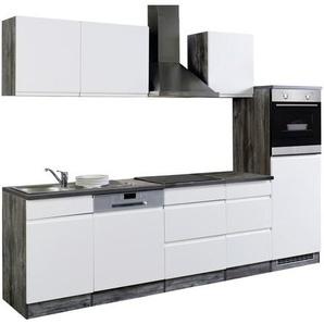 Mid.you Küchenblock , Weiß, Eiche , Holzwerkstoff , A+ , 280 cm , individuell planbar, links aufbaubar, rechts aufbaubar , Küchen, Küchenmöbel, Küchenzeilen & Küchenblöcke