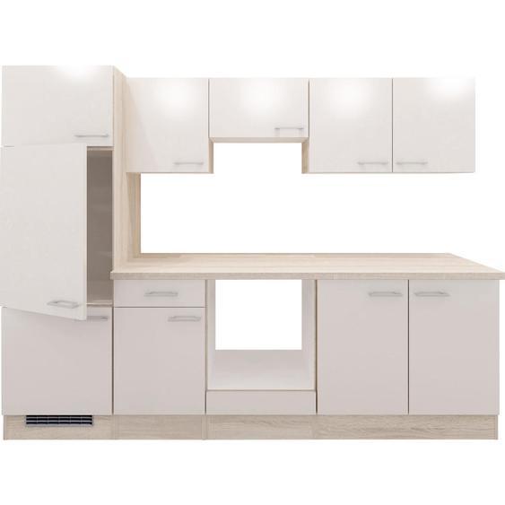 Mid.you Küchenleerblock , Eiche, Weiß , Holzwerkstoff , Eiche , 270 cm